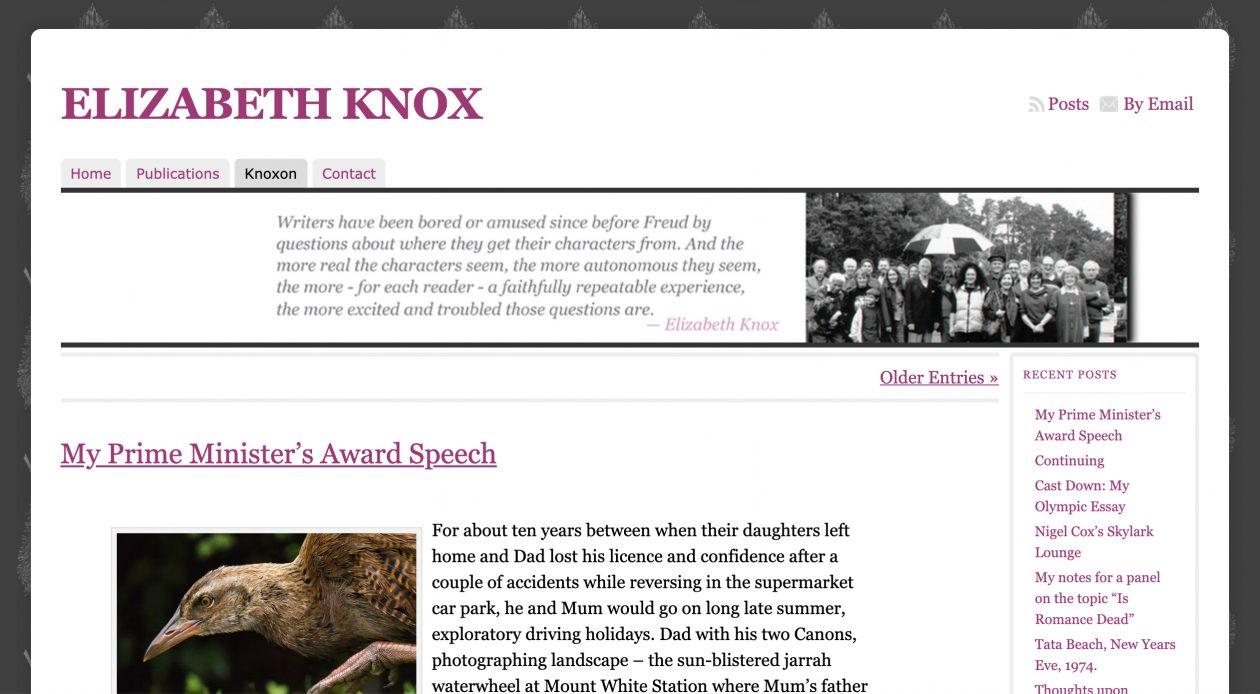 Website: Elizabeth Knox