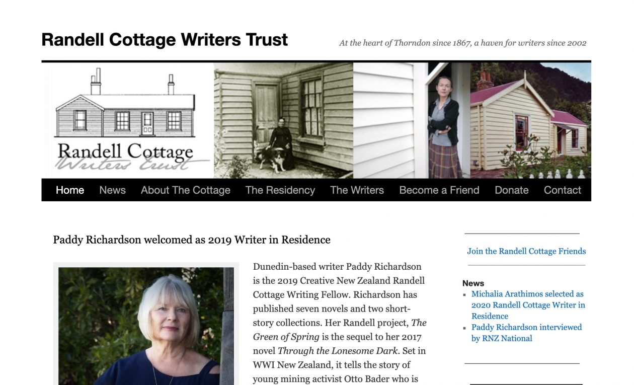 Website: Randell Cottage Writers Trust website