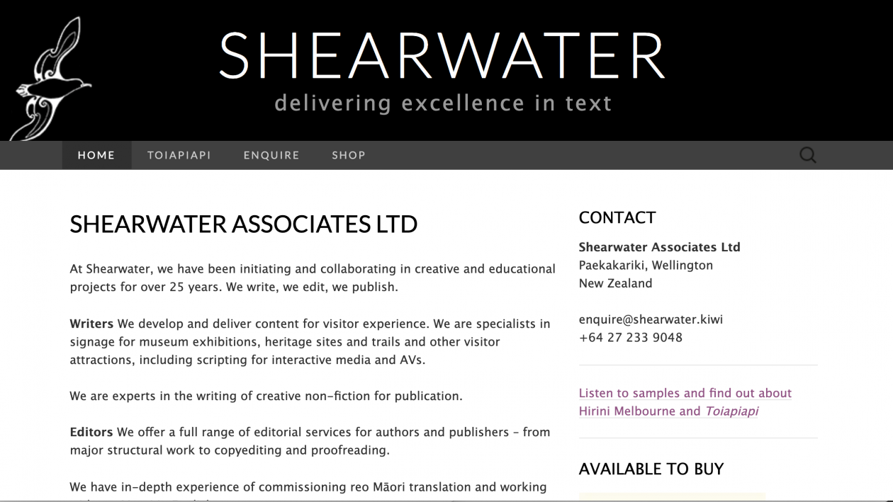 Website: Shearwater Associates